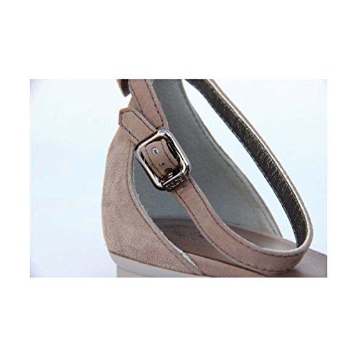 Tods Dames Platte Sandaal Xxw0mq0d7703dw157k Taupe