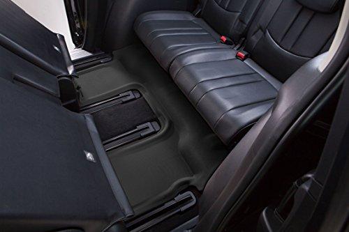 L1FR03531509 3D MAXpider Third Row Custom Fit All-Weather Floor Mat for Select Ford Explorer Models Black Kagu Rubber