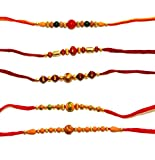 Set of 5 Rakhi Bracelets to USA - Raksha Bandhan Rakhi