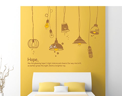 ufengke® Fashion Lamps Wall Decals, Living Room Bedroom Removable Wall Stickers Murals