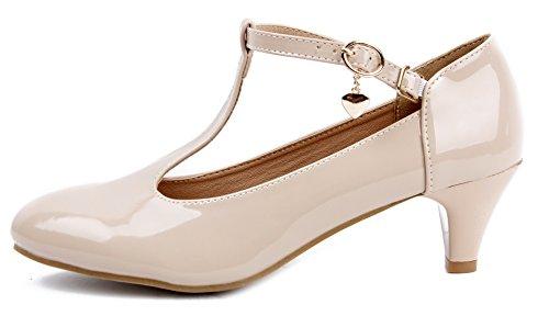 Cinturino Medio Tacco Taglia T Shoes Ageemi Scarpe Scarpette Albicocca Donna Col A p4HqY