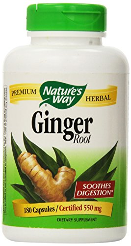 Nature's Way Ginger Root 500 mg, Capsules 180ea