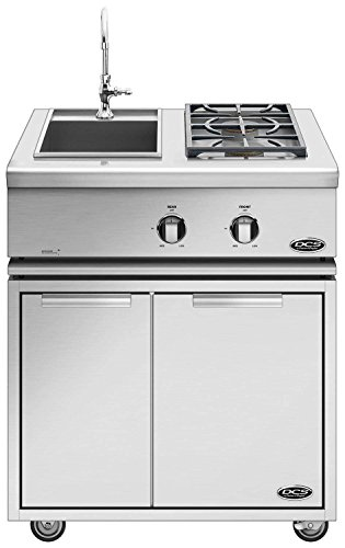 (DCS Liberty Dual Side Burner and Sink on Cart (71130) (BFGC-30BS-CAD1-30L), 30-Inch, Propane)