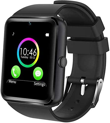 generisch 2019 PromoTech GT08 Sport Smartwatch con Bluetooth 3.0 + 1.54 Pulgadas Pantalla táctil + cámara + gsm/GPRS Tarjeta SIM. para Android e iOS (Negro).