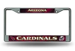 NFL Arizona Cardinals Chrome Licensed Plate Frame