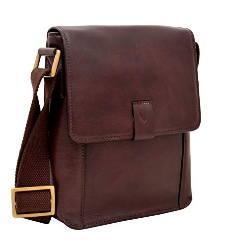- Aiden Small Leather Messenger Cross Body Bag