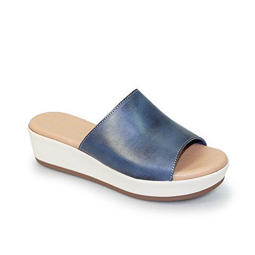 Femme Bleu Sandales pour Lunar Marine wAxfRYE7q