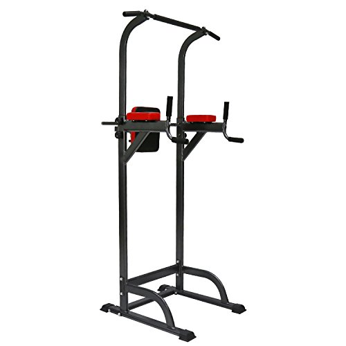Kinbor Pull up Stand Full Body Adjustable Power Tower Strength Power Tower Multi Fitness Workout Station Home Gym Indoor Outdoor