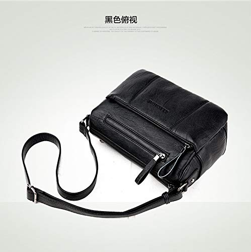 De 20x27x15cm Tote Hombro mochila Señora Hombro Negra Pequeño Diagonal 1 Bolso Negro wqaIvR5I