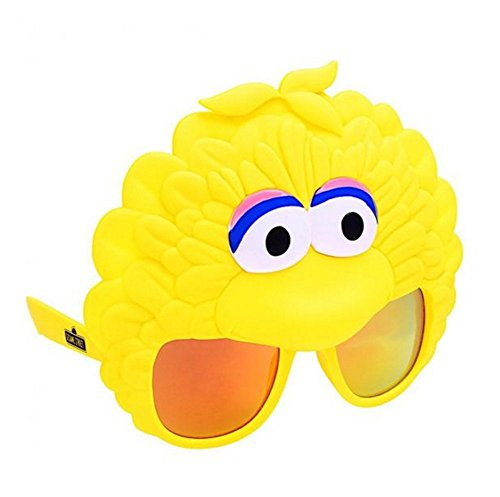Costume Sunglasses Sesame Street Big Bird Sun-Staches Party Favors UV400 -