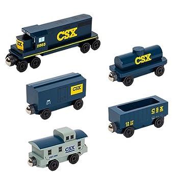 Csx Gp 38 5 Car Set Wooden Toy Trains By Whittle Shortline Railroad