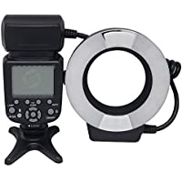 Mcoplus 14EXT-N 5500K Macro TTL Ring Flash Speedlite LED Video Light for Nikon D7100 D7000 D750 D5300 D5500 D3300 D3100 D800 D600 D90 D80 DSLR Cameras i-TTL with LED AF Assist Lamp