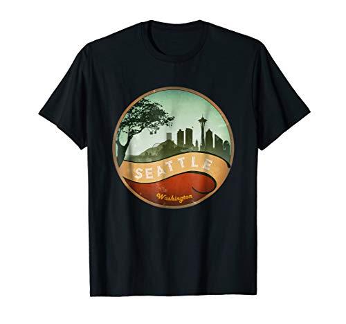Seattle City Skyline Washington Vintage 80s T-Shirt