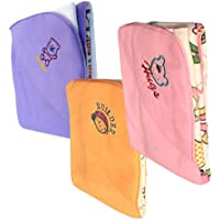 My NewBorn Baby Blankets- Double Layer Wrap -Pack of 3 Pcs