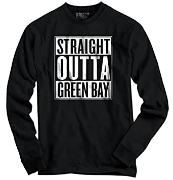 Straight Outta Green Bay, WI City Movie T Shirts Gift Ideas Long Sleeve Tee