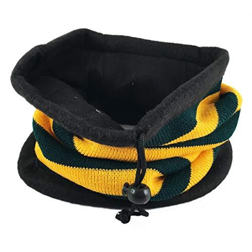Fleece Lining Neck Warmer Scarf Bandana Neck Gaiter Tube Multifunctional Ski Mask Head Band Beanie for Kids Little Boy/Girl (Orange Green)