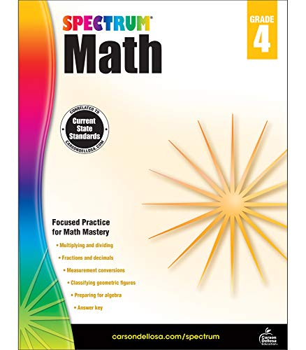 Spectrum Math Workbook, Grade 4 (New Edition French Two Years Workbook Answers)