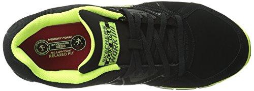 Skechers for Work Men's Synergy Ekron Work Shoe,Black/Lime,11 W US by Skechers (Image #7)