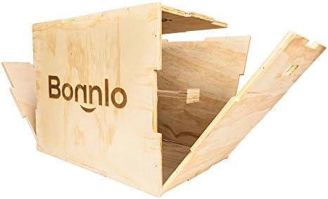 bonnlo 3 en 1 Madera pliométrico caja para saltar TRAINING, 4/5