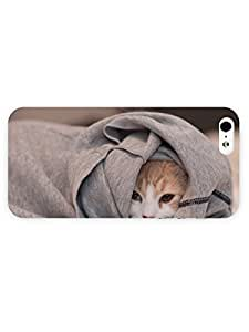 3d Full Wrap Case for iPhone 5/5s Animal Hiding Cat25