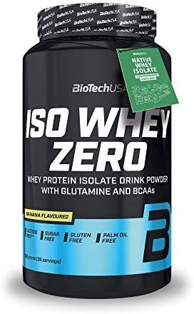 Iso Whey Zero Banane 908 g Dose - Whey-Isolat - zuckerfrei, glutenfrei - BiotechUSA