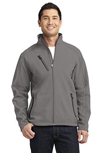 Port Authority Welded Soft Shell Jacket. J324 (Deep Smoke, 3XL)