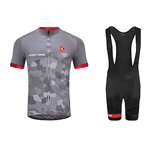 (Uglyfrog 2018 New Summer Cyling Set Short Jersey +Bib Shorts Triathlon Wear Brief Professional Classic Retro MTB Bicycle Clothes)