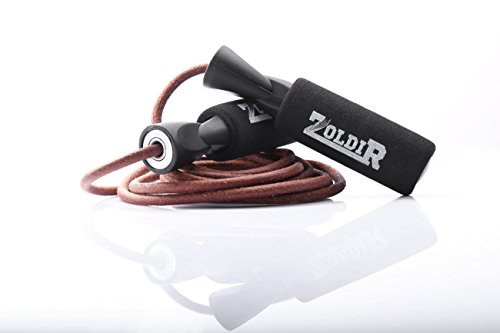 Leather Jump Rope, By Zoldir - Skipping Ropes for Exercise, CrossFit and Speed Skip Training Best Jumping Rope for Cardio Fitness