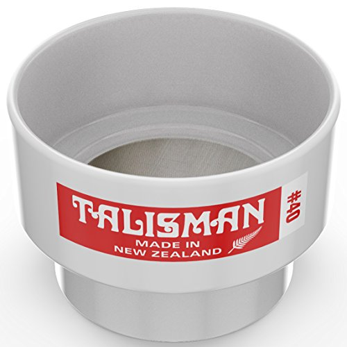 Advantech Manufacturing Lab - Talisman, Test Sieve, 40 Mesh, For Small Batch Slips, Glazes and Laboratory Use, 316 Steel Mesh, Polycarbonate Body
