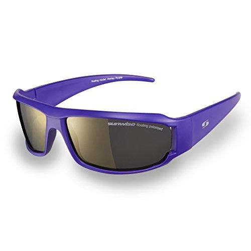 Sunwise Henley polarisées sport lunettes de soleil protection UV Lunettes Cadre flottant - Purple Frame/Gold Mirror Lens