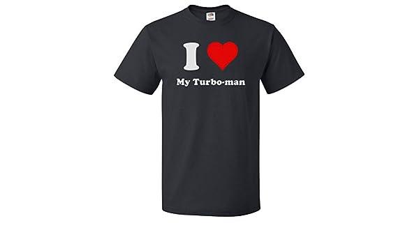Amazon.com: ShirtScope I Love My Turbo-man T shirt I Heart My Turbo-man Tee: Clothing