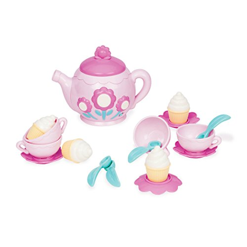 Play Circle by Battat - La Dida Musical Tea Party Set - 17-piece Kids Tea Party Set and Teapot with Sounds - Plastic Tea Set for Kids Age 3 Years and Up