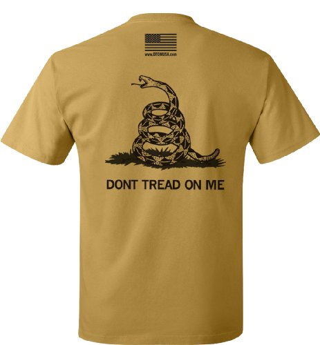 Don't Tread On Me T-Shirt Gold Nugget - L (Nugget Gold T-shirt)