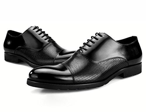 Scarpe Uomo in Pelle Scarpe in pelle da uomo Hollow Spring Business ha indicato i pattini Maschio sandali traspirante British Style singolo (Colore : Nero, dimensioni : EU 41/UK7) Nero