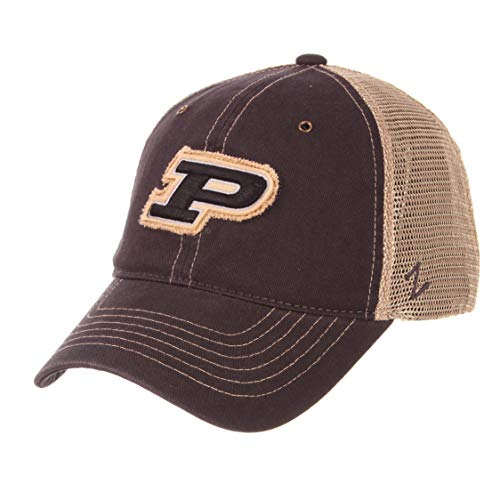 ZHATS NCAA Purdue Boilermakers Men's Tatter Relaxed Cap, Adjustable, Charcoal