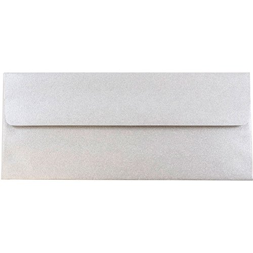 ic Business Envelopes - 4 1/8 x 9 1/2 - Silver Stardream - 25/Pack ()