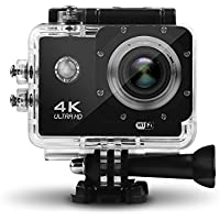 HEIHEI 1080P 4K Ultra HD Wireless Sports Camera, 2.0 Inch 170 Degree Ultra-Wide Angle Lens Waterproof Sports Action Camera Diving Cam DV Camcorder Kit with 21 Accessories