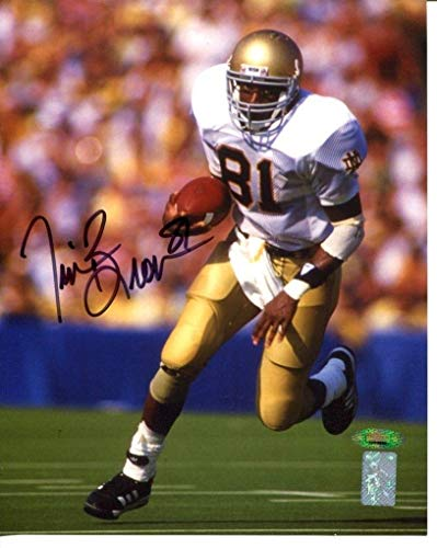 (Tim Brown Signed Photo 8x10 Autographed Notre Dame Heisman - Tristar Productions Certified - Autographed College Photos)