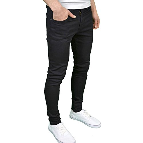 Aderenti Da Super Senjo Stile Di Nero Uomo Jeans 526jeanswear WvUXnnE