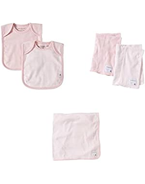 Organic Cotton Baby-On-The-Go Bundle/Gift Set: Blossom Pink