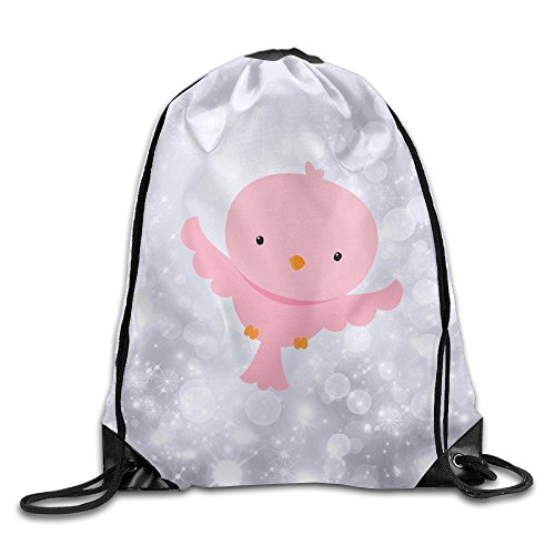 Disaeq Happy Chick Wonderful Beam Backpack Drawstring Travelling Bundle Pocket Canvas Storage (Halloween Web Eyeliner)