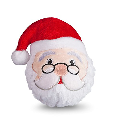 Image of fabdog Santa faball Squeaky Dog Toy (Small)