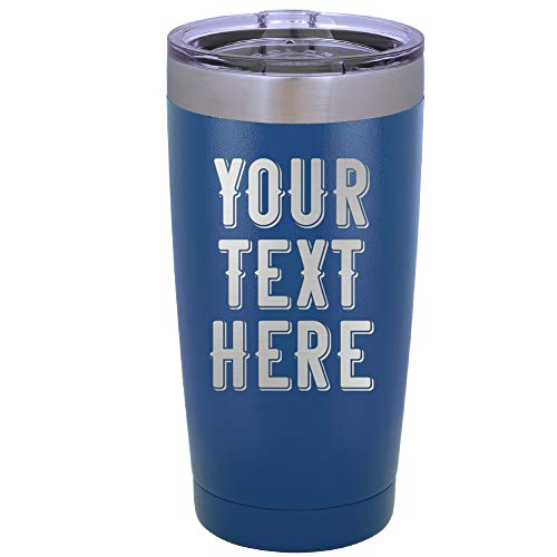 Personalized Tumbler 20 or 30oz Double-Wall Vacuum Insulated Travel Tumblers Large Mug Coffee Tea Hot & Cold Drink to Go Cup Stainlees Steel Metal Thermos | 7 Different Color 10 Different Font Option