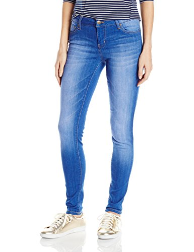 Celebrity Pink Jeans Women's Infinite Stretch Mid Rise Skinny Jean, Blue Lagoon Wash, 17