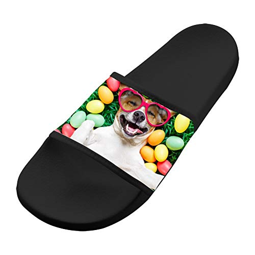 Men Women Dog Soft Casual Slip Sandals Black Slippers Comfortable Sandals Non amp; 48aOH7Hn