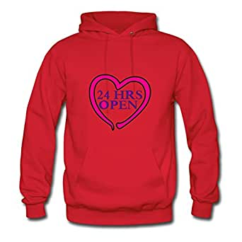 Arturobuch Red X-large Customized My Heart Is Open 24/7 Hoody For Women