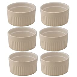 Mrs. Anderson's Baking Ceramic 6-Ounce Souffle Dish, Wheat, Set of 6