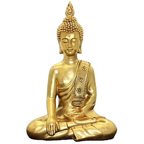 Thai Buddha Ornaments Home Decoration Crafts Resin Buddha Statue BS117 - Gold Buddhist Statues