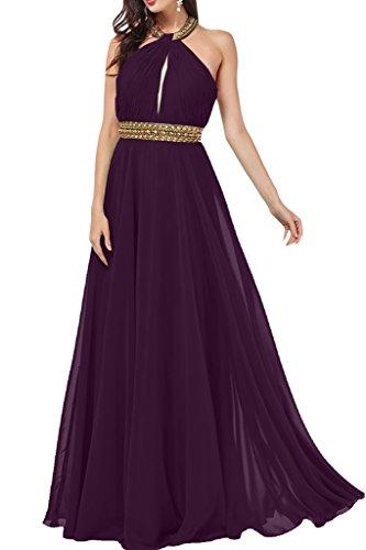 ivyd ressing Mujer a de línea Neck Holder con piedras gasa vestido de fiesta Prom vestido para vestido de noche Traube