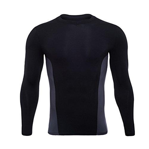 にぎやか大工メキシコZhhlinyuan コンプレッションウェア メンズ Workout コンプレッショントップス Body Fit Base Layer Top 長袖 Cool Dry Under Shirt for Yoga Gym Workout Training